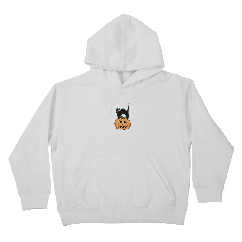 Halloween cat Kids Pullover Hoody by Make a statement, laugh, enjoy.