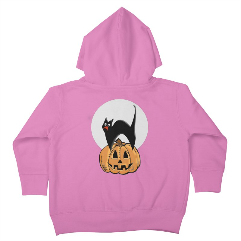 Halloween cat Kids Toddler Zip-Up Hoody by Sporkshirts's tshirt gamer movie and design shop.