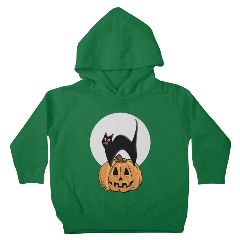 Halloween cat Kids Toddler Pullover Hoody by Make a statement, laugh, enjoy.