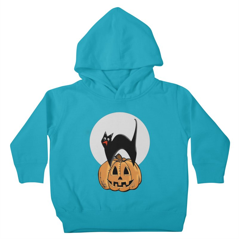 Halloween cat Kids Toddler Pullover Hoody by Sporkshirts's tshirt gamer movie and design shop.