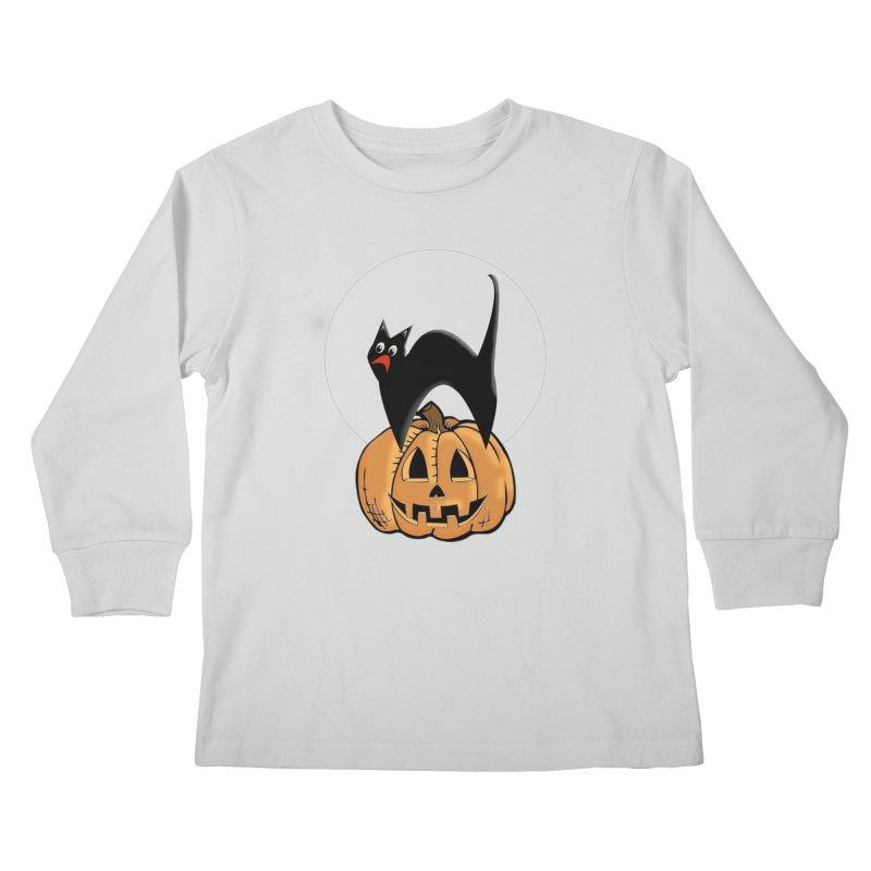 Halloween cat Kids Longsleeve T-Shirt by Make a statement, laugh, enjoy.