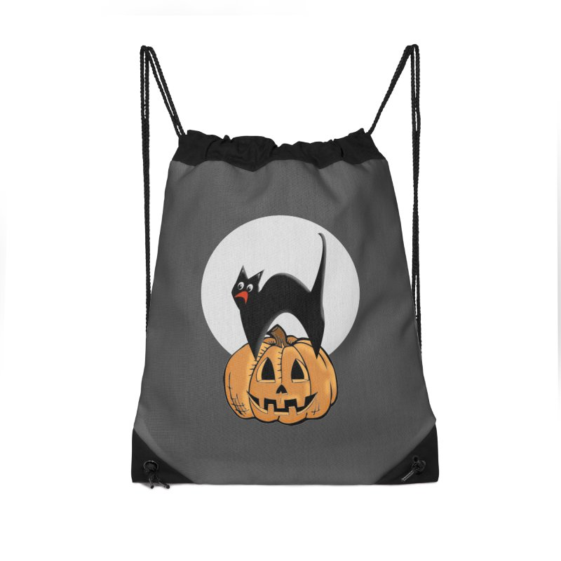 Halloween cat Accessories Drawstring Bag Bag by Make a statement, laugh, enjoy.