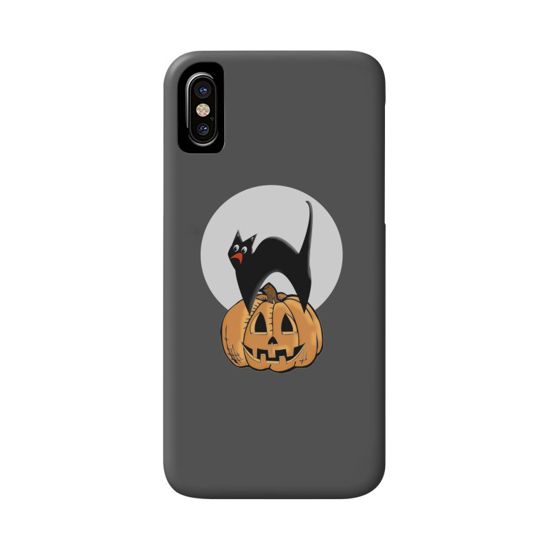 Halloween cat Accessories Phone Case by Sporkshirts's tshirt gamer movie and design shop.