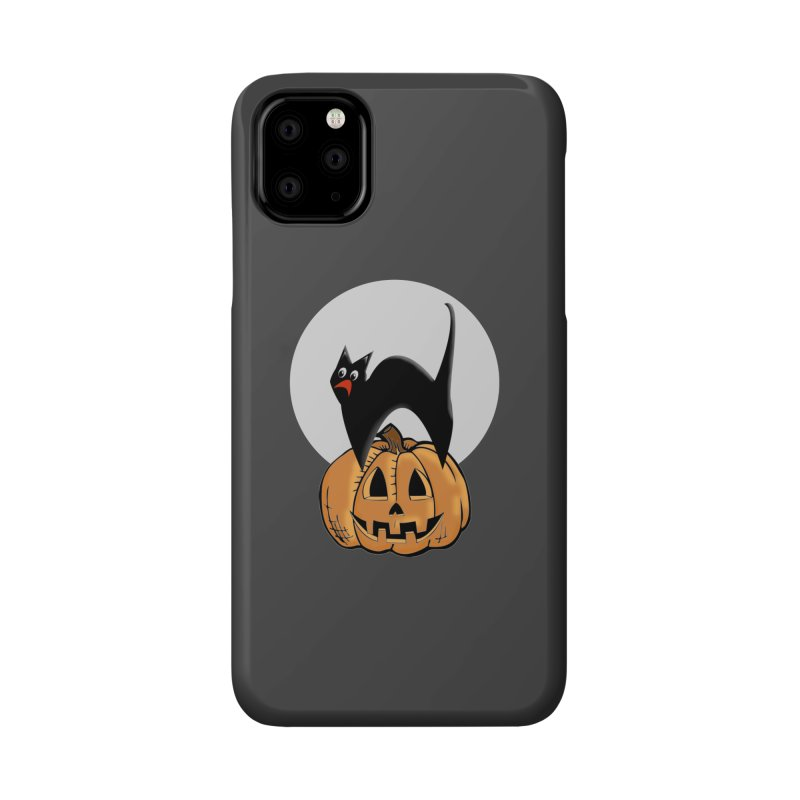 Halloween cat Accessories Phone Case by Make a statement, laugh, enjoy.