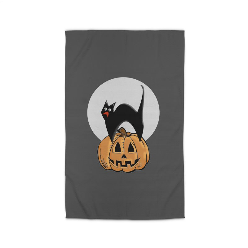 Halloween cat Home Rug by Make a statement, laugh, enjoy.