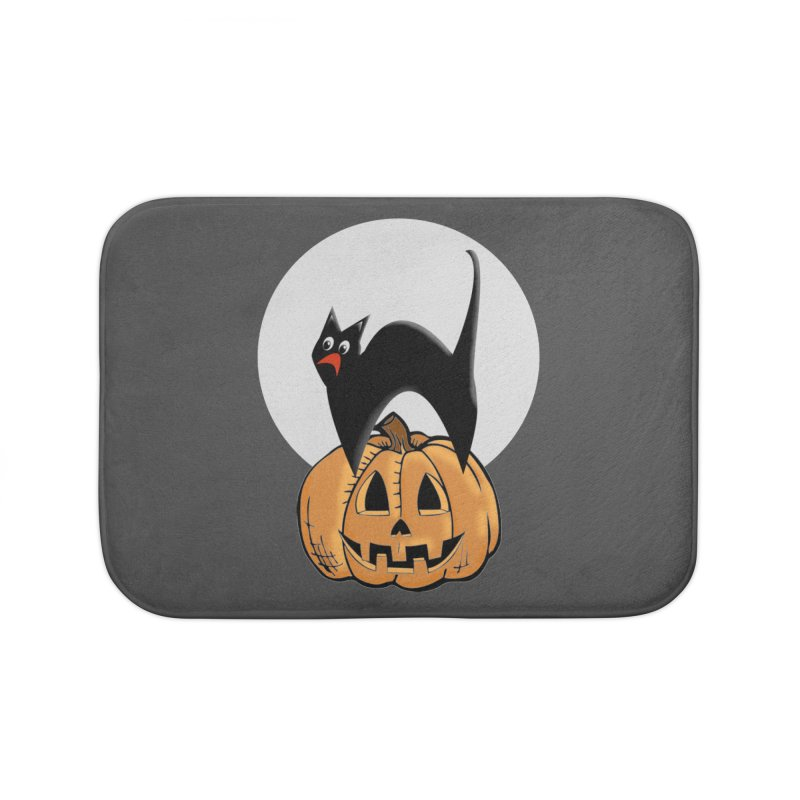Halloween cat Home Bath Mat by Make a statement, laugh, enjoy.