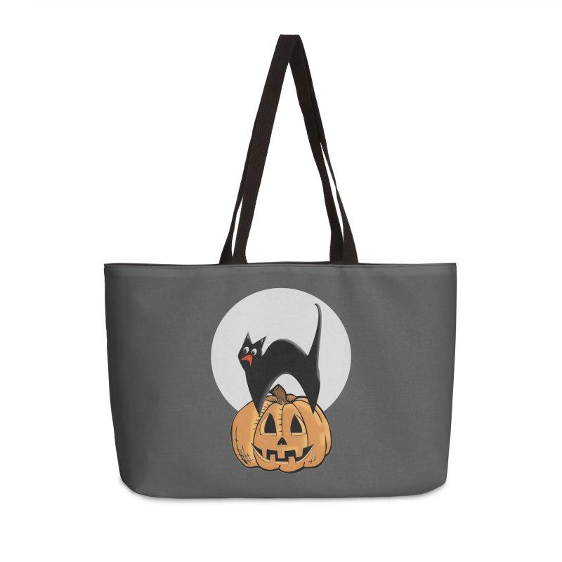 Halloween cat Accessories Weekender Bag Bag by Make a statement, laugh, enjoy.