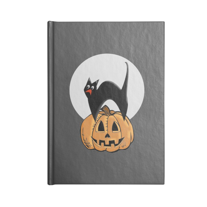 Halloween cat Accessories Lined Journal Notebook by Make a statement, laugh, enjoy.