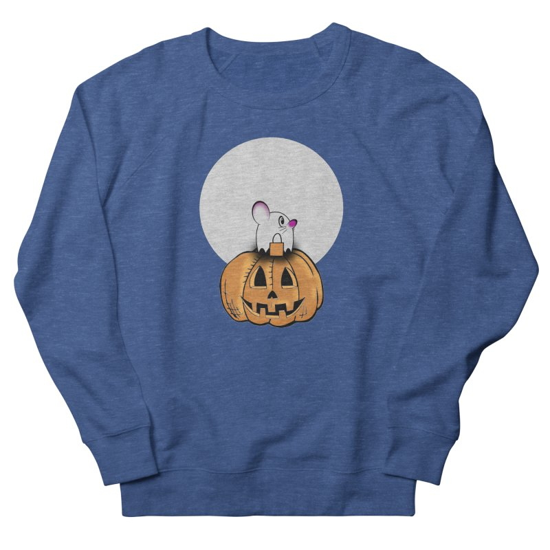 Halloween mouse in ghost costume. Men's Sweatshirt by Make a statement, laugh, enjoy.