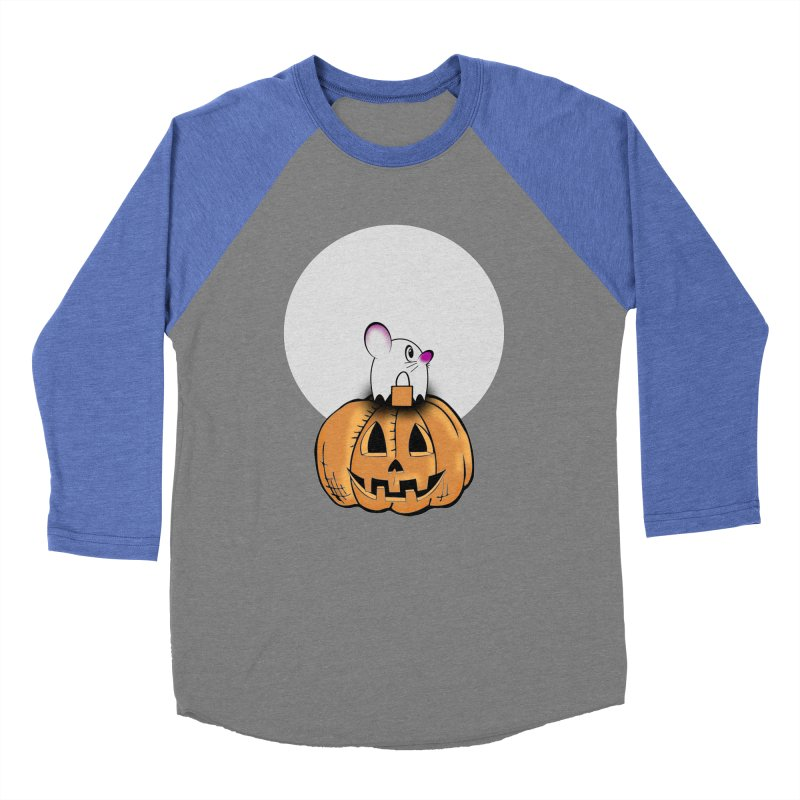 Halloween mouse in ghost costume. Women's Baseball Triblend Longsleeve T-Shirt by Sporkshirts's tshirt gamer movie and design shop.