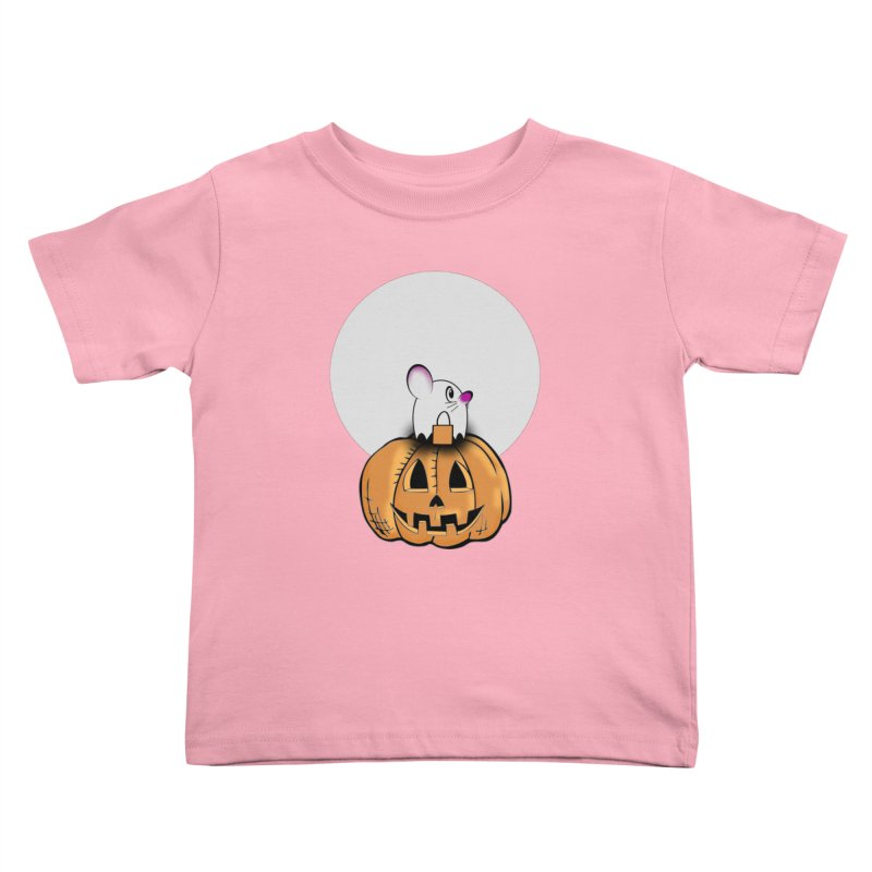 Halloween mouse in ghost costume. Kids Toddler T-Shirt by Make a statement, laugh, enjoy.