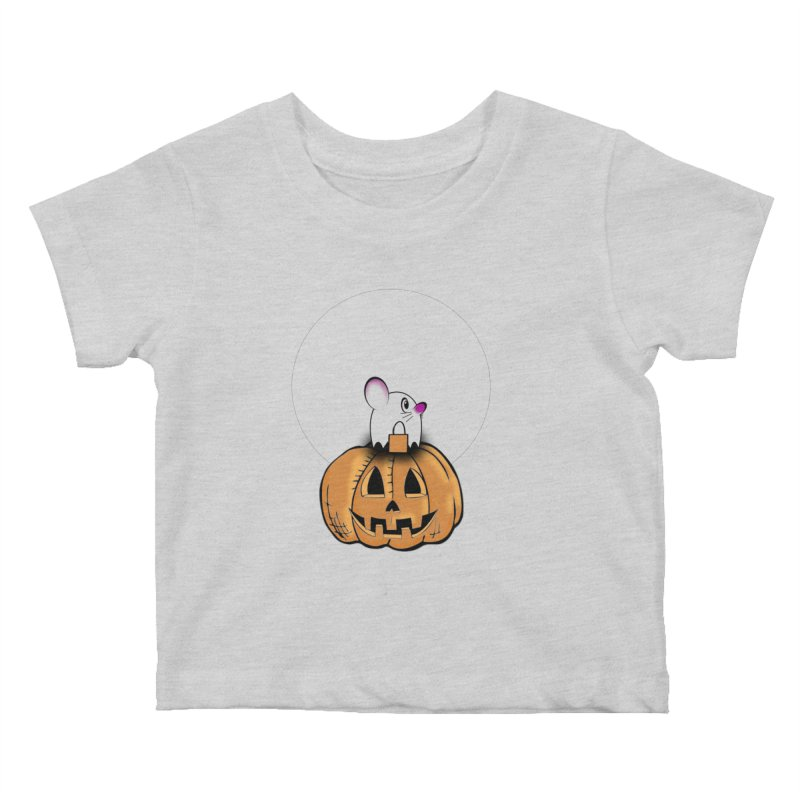 Halloween mouse in ghost costume. Kids Baby T-Shirt by Sporkshirts's tshirt gamer movie and design shop.