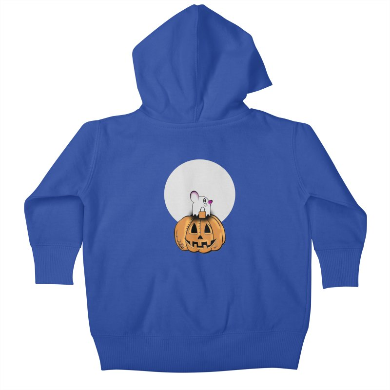 Halloween mouse in ghost costume. Kids Baby Zip-Up Hoody by Sporkshirts's tshirt gamer movie and design shop.