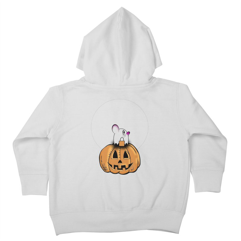 Halloween mouse in ghost costume. Kids Toddler Zip-Up Hoody by Make a statement, laugh, enjoy.