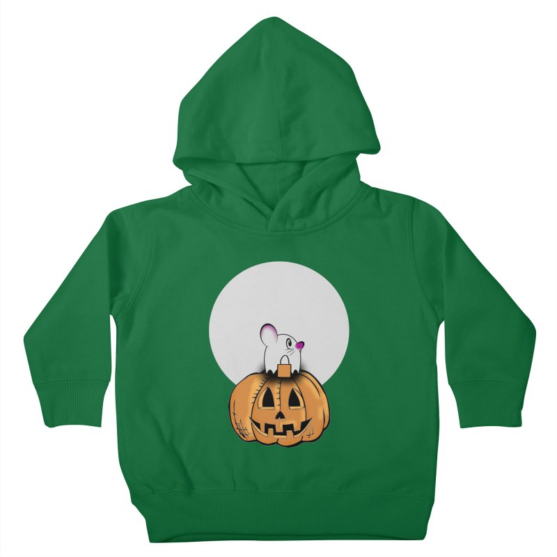 Halloween mouse in ghost costume. Kids Toddler Pullover Hoody by Make a statement, laugh, enjoy.