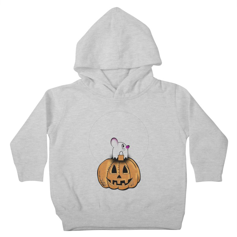 Halloween mouse in ghost costume. Kids Toddler Pullover Hoody by Sporkshirts's tshirt gamer movie and design shop.