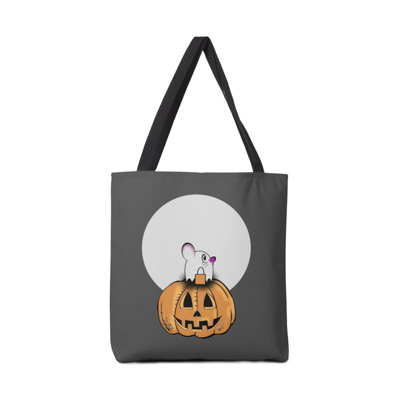 Halloween mouse in ghost costume. Accessories Tote Bag Bag by Make a statement, laugh, enjoy.
