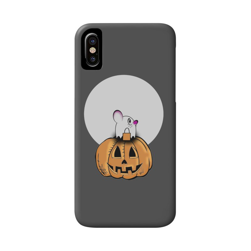 Halloween mouse in ghost costume. Accessories Phone Case by Sporkshirts's tshirt gamer movie and design shop.