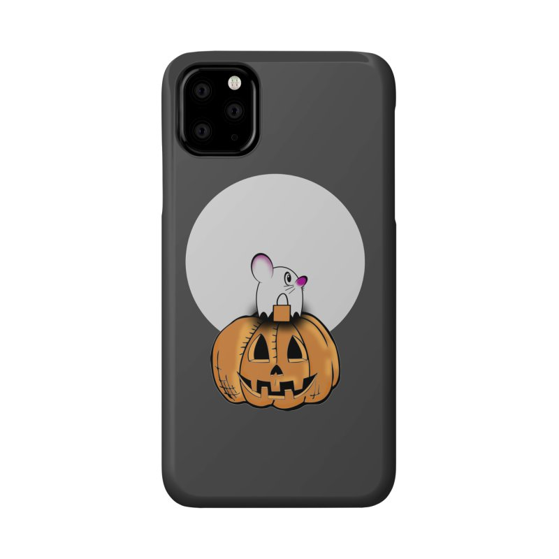Halloween mouse in ghost costume. Accessories Phone Case by Make a statement, laugh, enjoy.
