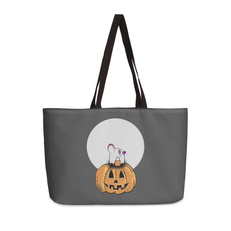 Halloween mouse in ghost costume. Accessories Weekender Bag Bag by Make a statement, laugh, enjoy.