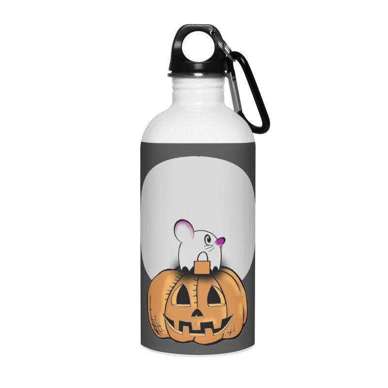 Halloween mouse in ghost costume. Accessories Water Bottle by Make a statement, laugh, enjoy.