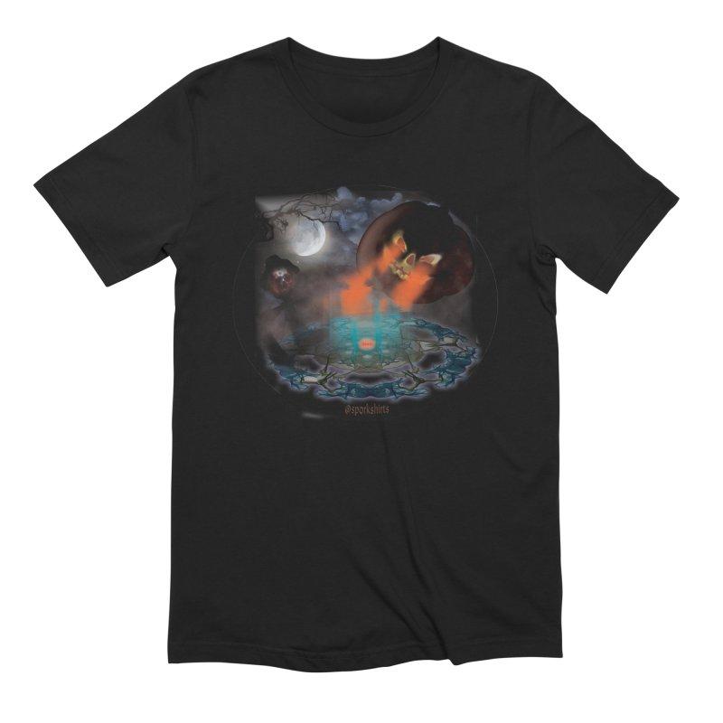 Evil Jack-o-Lantern in Men's Extra Soft T-Shirt Black by Sporkshirts's tshirt gamer movie and design shop.