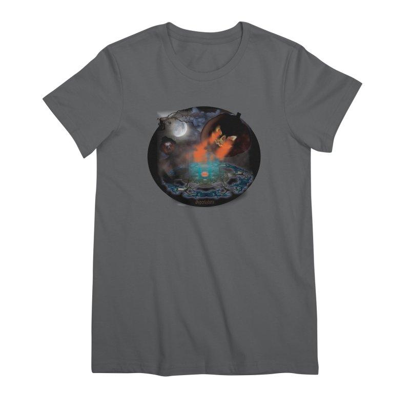 Evil Jack-o-Lantern Women's Premium T-Shirt by Make a statement, laugh, enjoy.