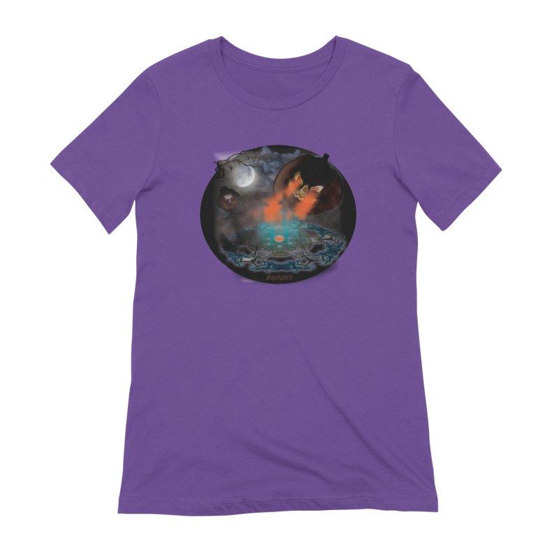 Evil Jack-o-Lantern Women's Extra Soft T-Shirt by Sporkshirts's tshirt gamer movie and design shop.