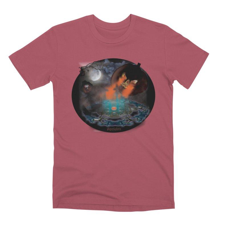 Evil Jack-o-Lantern Men's Premium T-Shirt by Make a statement, laugh, enjoy.
