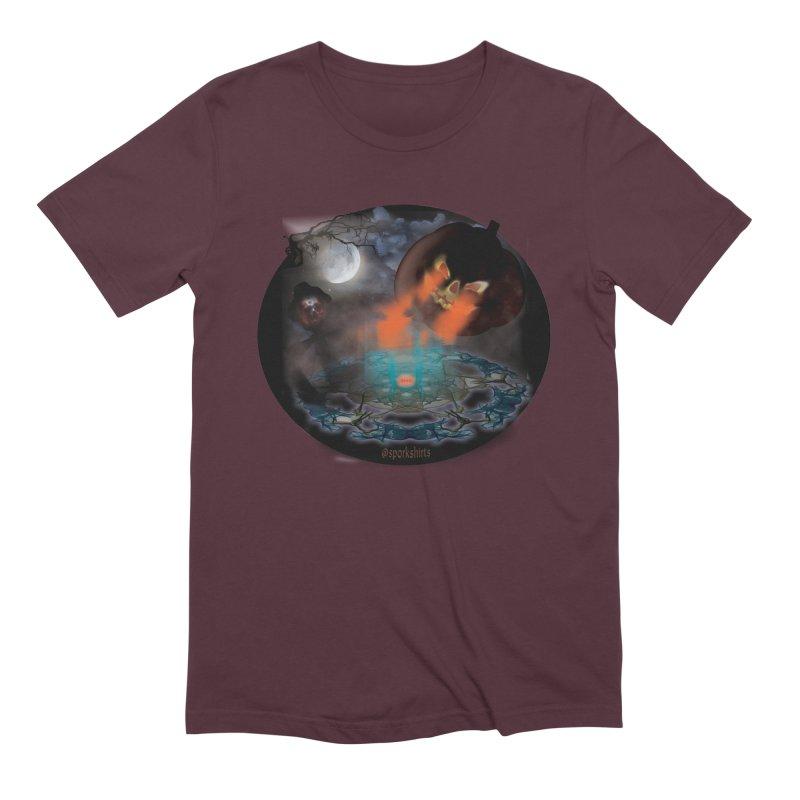 Evil Jack-o-Lantern Men's Extra Soft T-Shirt by Make a statement, laugh, enjoy.