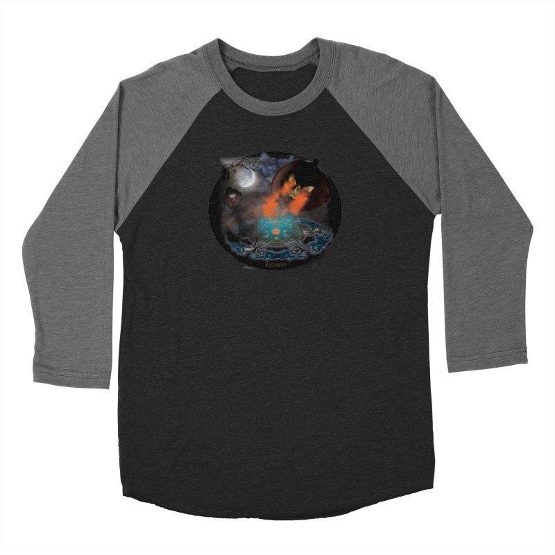 Evil Jack-o-Lantern Women's Baseball Triblend Longsleeve T-Shirt by Make a statement, laugh, enjoy.