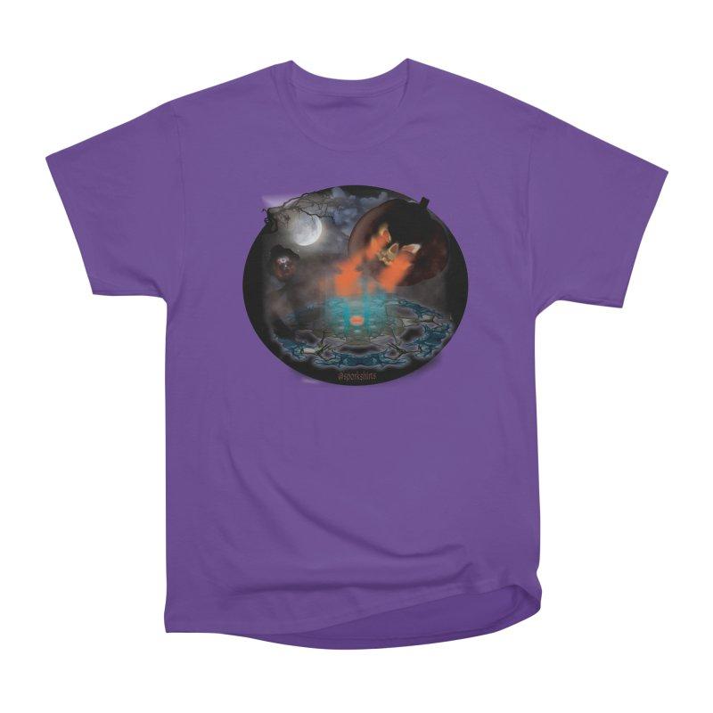 Evil Jack-o-Lantern Men's Heavyweight T-Shirt by Make a statement, laugh, enjoy.