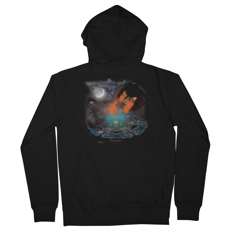 Evil Jack-o-Lantern Women's French Terry Zip-Up Hoody by Make a statement, laugh, enjoy.