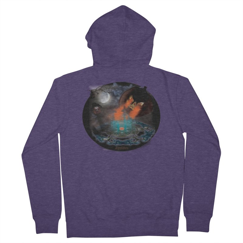 Evil Jack-o-Lantern Men's French Terry Zip-Up Hoody by Make a statement, laugh, enjoy.
