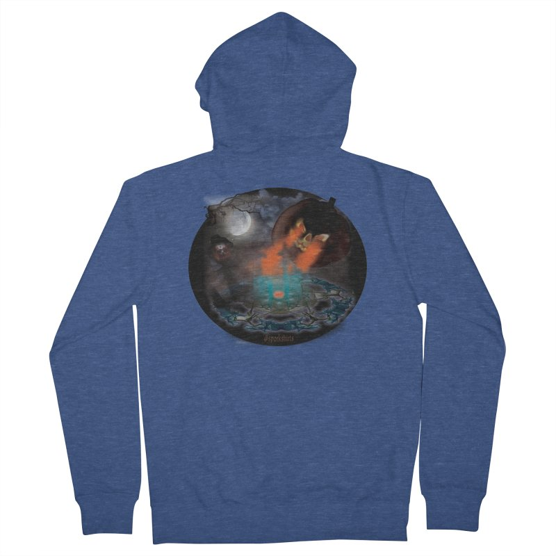 Evil Jack-o-Lantern Men's French Terry Zip-Up Hoody by Sporkshirts's tshirt gamer movie and design shop.