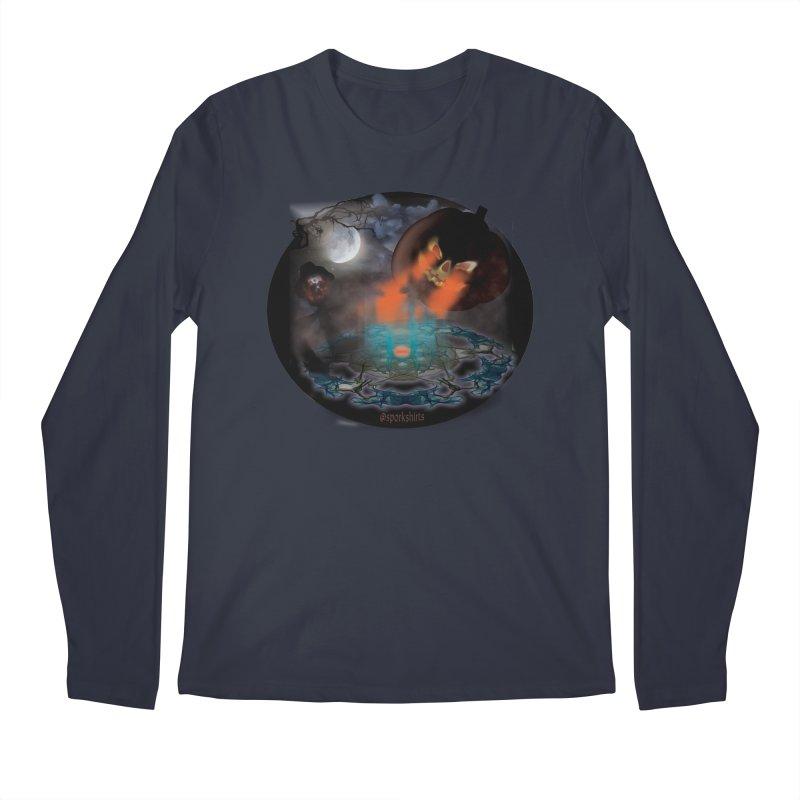 Evil Jack-o-Lantern Men's Regular Longsleeve T-Shirt by Sporkshirts's tshirt gamer movie and design shop.
