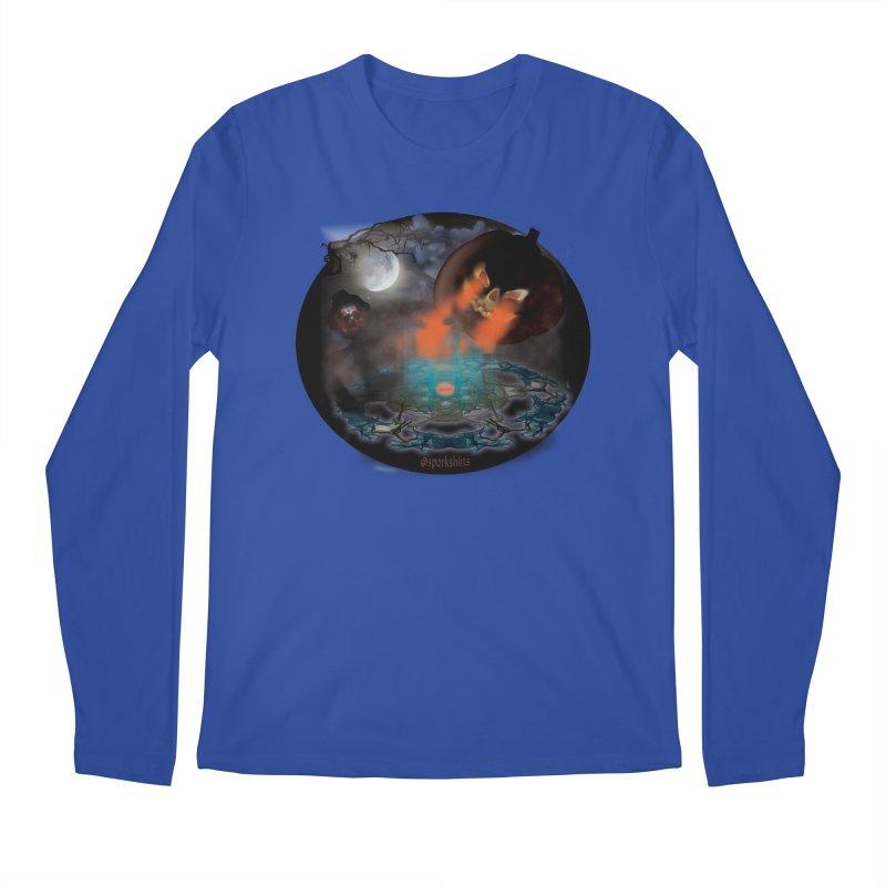 Evil Jack-o-Lantern Men's Regular Longsleeve T-Shirt by Make a statement, laugh, enjoy.