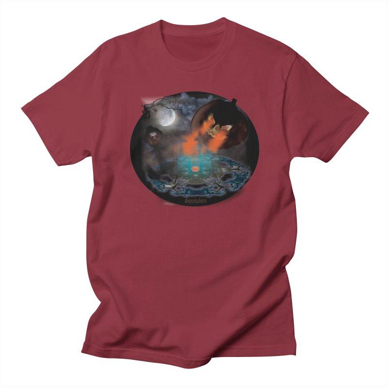 Evil Jack-o-Lantern Women's Regular Unisex T-Shirt by Make a statement, laugh, enjoy.