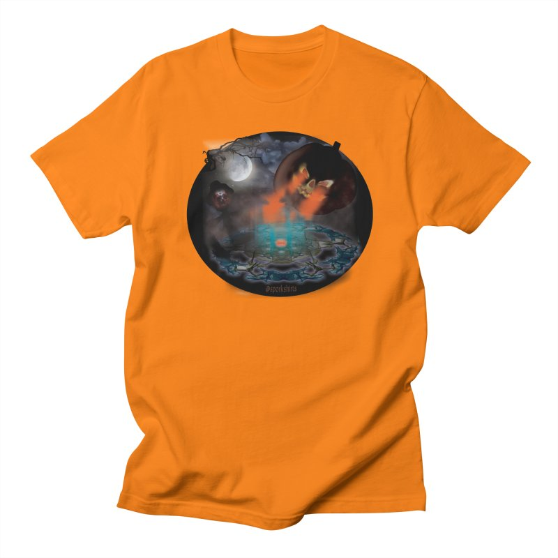 Evil Jack-o-Lantern Women's Regular Unisex T-Shirt by Make a statement, laugh, enjoy.