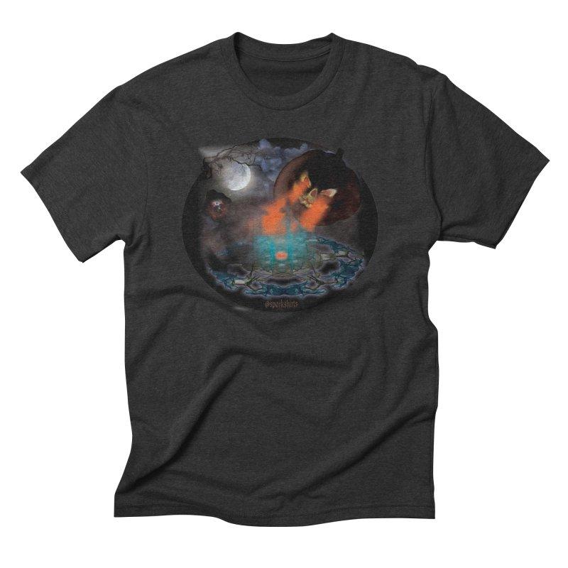 Evil Jack-o-Lantern Men's Triblend T-Shirt by Make a statement, laugh, enjoy.