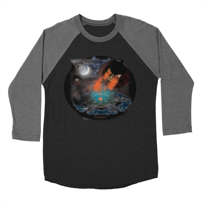 Evil Jack-o-Lantern Men's Baseball Triblend Longsleeve T-Shirt by Make a statement, laugh, enjoy.