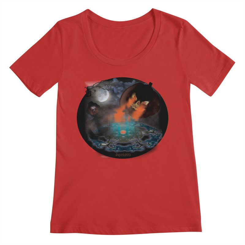 Evil Jack-o-Lantern Women's Regular Scoop Neck by Make a statement, laugh, enjoy.