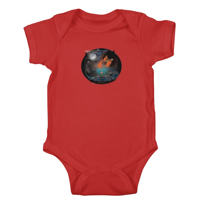 Evil Jack-o-Lantern Kids Baby Bodysuit by Make a statement, laugh, enjoy.