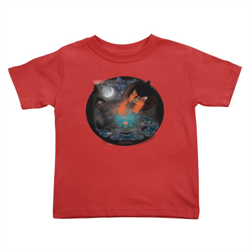 Evil Jack-o-Lantern Kids Toddler T-Shirt by Sporkshirts's tshirt gamer movie and design shop.