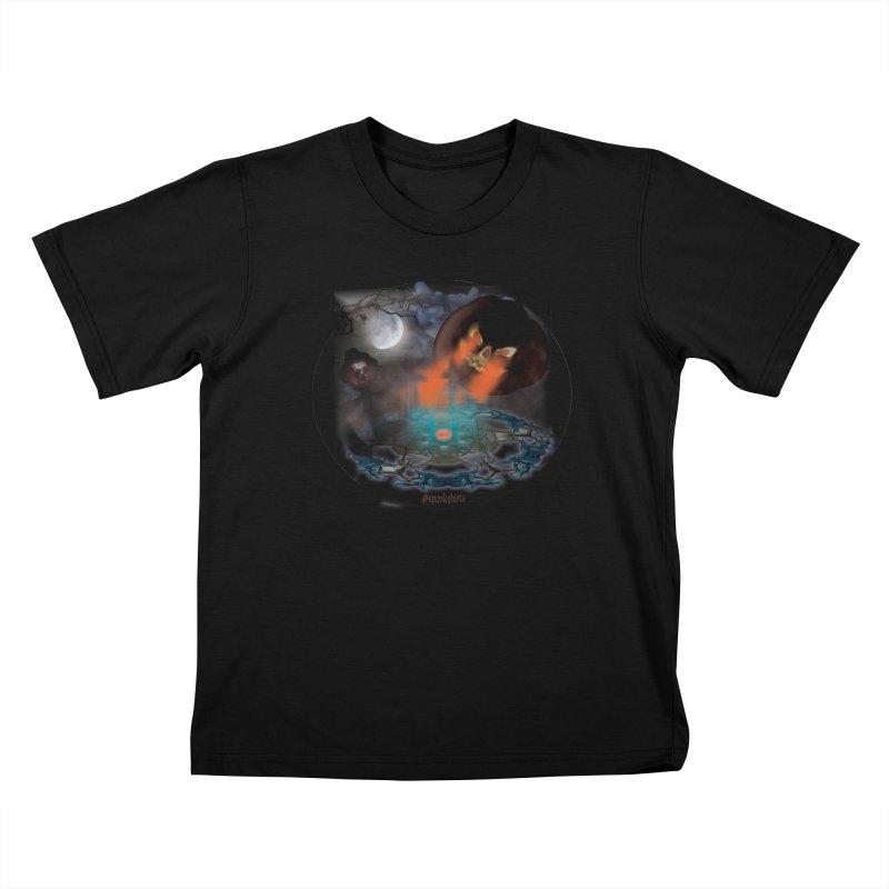 Evil Jack-o-Lantern Kids T-Shirt by Sporkshirts's tshirt gamer movie and design shop.