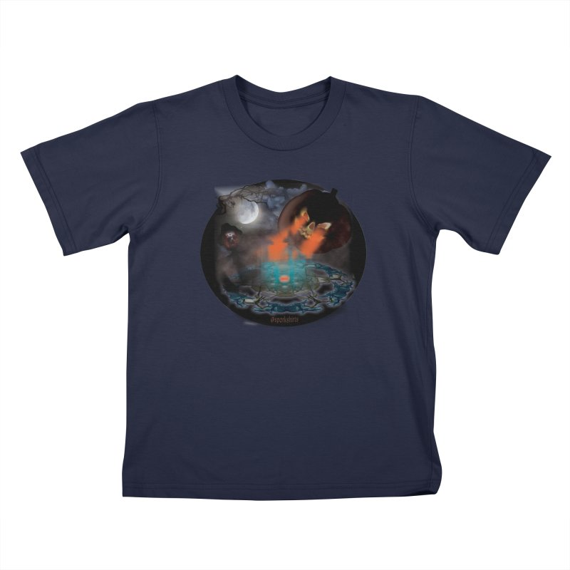 Evil Jack-o-Lantern Kids T-Shirt by Make a statement, laugh, enjoy.