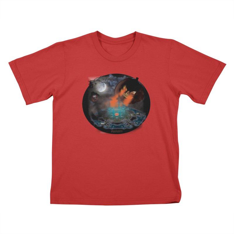Evil Jack-o-Lantern Kids T-Shirt by Make a statement, laugh, enjoy.
