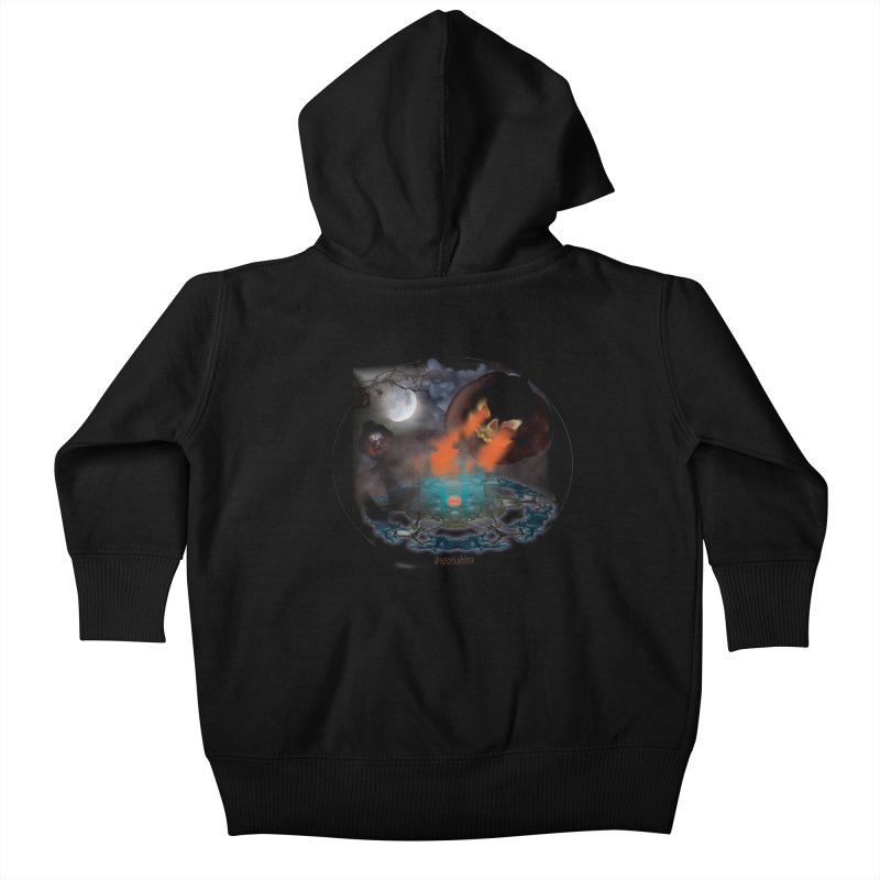 Evil Jack-o-Lantern Kids Baby Zip-Up Hoody by Make a statement, laugh, enjoy.