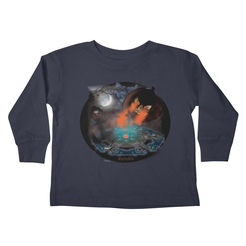 Evil Jack-o-Lantern Kids Toddler Longsleeve T-Shirt by Make a statement, laugh, enjoy.