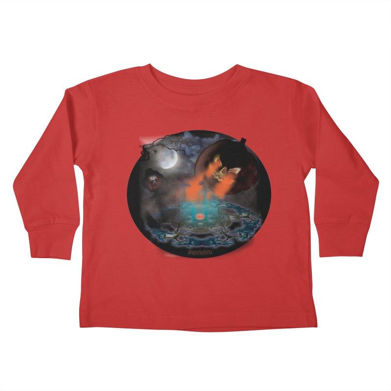 Evil Jack-o-Lantern Kids Toddler Longsleeve T-Shirt by Make a statement, laugh, enjoy.